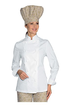 Giacca Lady Chef bottoni antipanico - Isacco